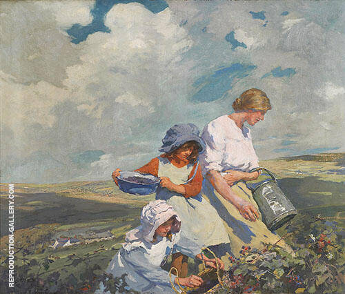Blackberry Gathering 1916 By Elizabeth Forbes