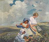 Blackberry Gathering 1916 By Elizabeth Forbes