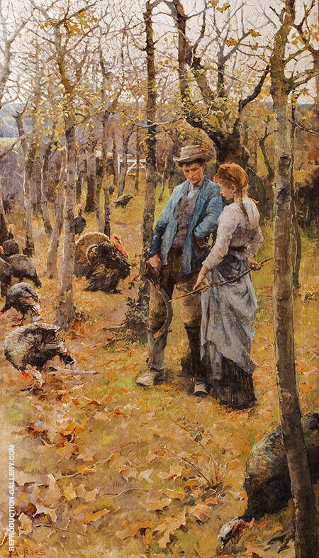 At the Edge of the Woods 1882 By Elizabeth Forbes
