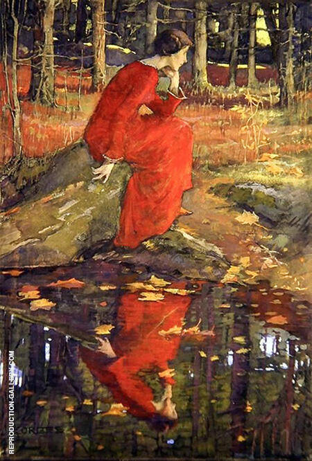 The Leaf c1897 By Elizabeth Forbes