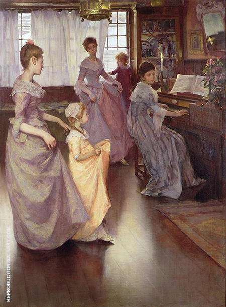 The Minuet 1892 By Elizabeth Forbes