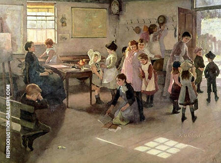 School Is Out 1889 By Elizabeth Forbes - Oil Paintings & Art Reproductions - Reproduction Gallery
