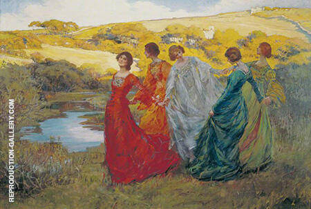 On a Fine Day 1903 By Elizabeth Forbes - Oil Paintings & Art Reproductions - Reproduction Gallery