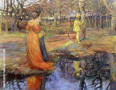 Medieval Woodland Scene 1885 By Elizabeth Forbes - Oil Paintings & Art Reproductions - Reproduction Gallery