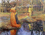 Medieval Woodland Scene 1885 By Elizabeth Forbes