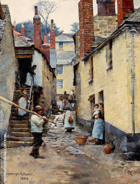 Old Newlyn 1884 By Stanhope Forbes