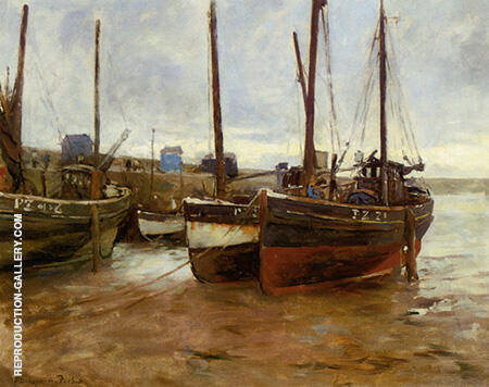 Boats at Anchor By Stanhope Forbes
