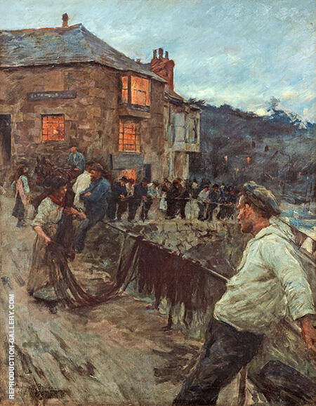The Quayside Newlyn 1907 By Stanhope Forbes