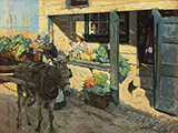 The Village Shop above Newlyn Harbour 1909 By Stanhope Forbes