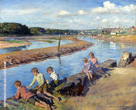 Young Anglers at Hayle 1930 By Stanhope Forbes