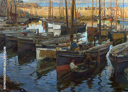 The Safe Anchorage 1909 By Stanhope Forbes - Oil Paintings & Art Reproductions - Reproduction Gallery