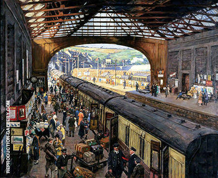 The Terminus Penzance Station By Stanhope Forbes