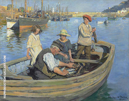 The Fishermen's Expedition 1923 By Stanhope Forbes - Oil Paintings & Art Reproductions - Reproduction Gallery