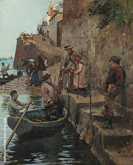 The Slip By Stanhope Forbes - Oil Paintings & Art Reproductions - Reproduction Gallery