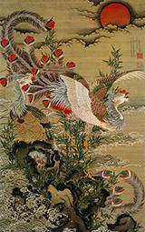 Rising Sun and Phoenix 1755 By Ito Jakuchu