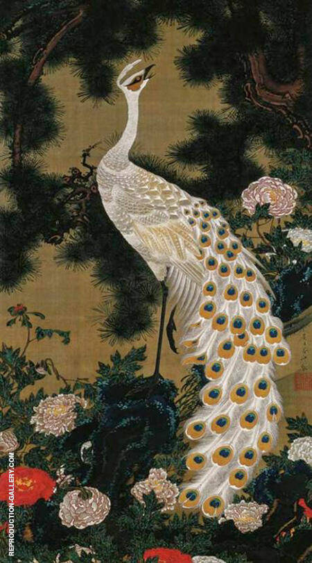 Old Pine Tree and Peacock 1761 By Ito Jakuchu