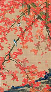 Maple Tree and Small Birds c1765 By Ito Jakuchu