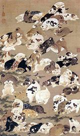 Hundred Dogs By Ito Jakuchu