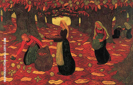 The Chestnut Gatherers By Georges Lacombe