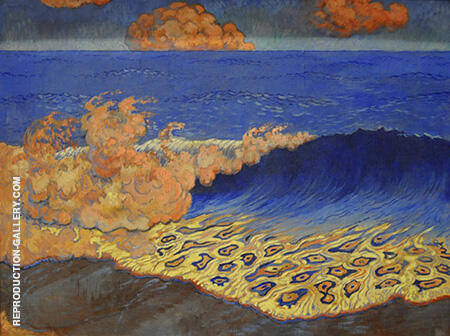 Marine Bleue c1893 By Georges Lacombe - Oil Paintings & Art Reproductions - Reproduction Gallery