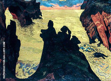 La Mer Jaune Camaret c1892 By Georges Lacombe