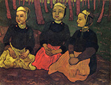 Three Breton Women in the Forest By Georges Lacombe