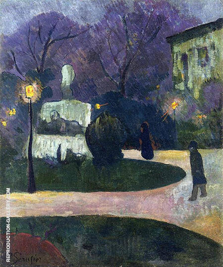 Square with Street Lamp 1891 By Paul Serusier - Oil Paintings & Art Reproductions - Reproduction Gallery