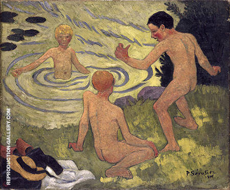 Boys on a Riverbank 1906 Painting By Paul Serusier - Reproduction Gallery