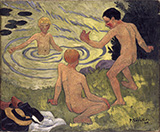 Boys on a Riverbank 1906 By Paul Serusier