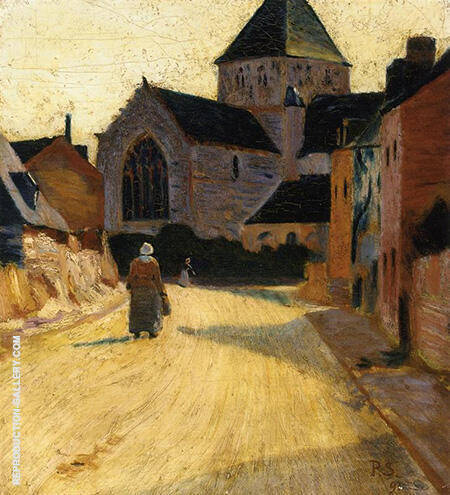 Woman in a Street 1891 By Paul Serusier - Oil Paintings & Art Reproductions - Reproduction Gallery