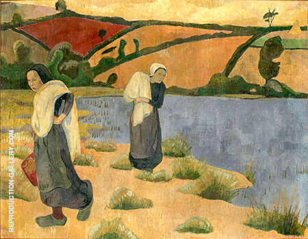 The Washers at Laita 1892 Painting By Paul Serusier - Reproduction Gallery