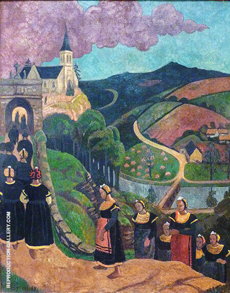 The Pardon of Notre Dame Des Portes at Chateauneuf Du Faou 1894 By Paul Serusier - Oil Paintings & Art Reproductions - Reproduction Gallery