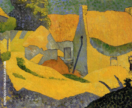 Yellow Farm at Pouldu c1890 By Paul Serusier - Oil Paintings & Art Reproductions - Reproduction Gallery