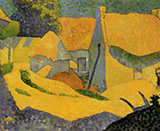 Yellow Farm at Pouldu c1890 By Paul Serusier
