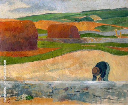 Seaweed Gatherer c1890 Painting By Paul Serusier - Reproduction Gallery