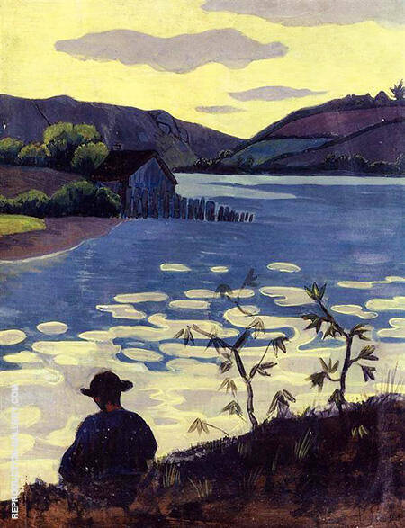 Fisherman on the Laita 1890 Painting By Paul Serusier