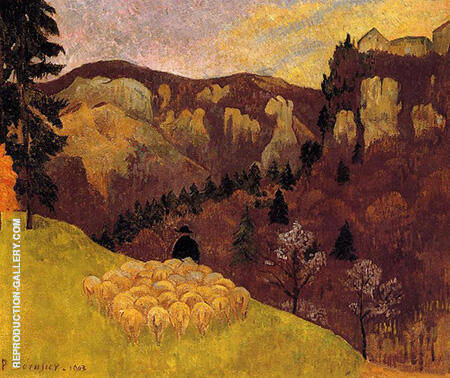 The Flock in the Black Forest 1903 Painting By Paul Serusier