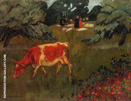 The Wash in a Large Meadow 1894 By Paul Serusier - Oil Paintings & Art Reproductions - Reproduction Gallery