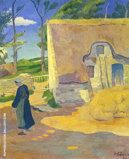 Farmhouse at Le Pouldu 1890 Painting By Paul Serusier