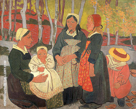 Bretons in the Forest of Huelgoat 1893 Painting By Paul Serusier