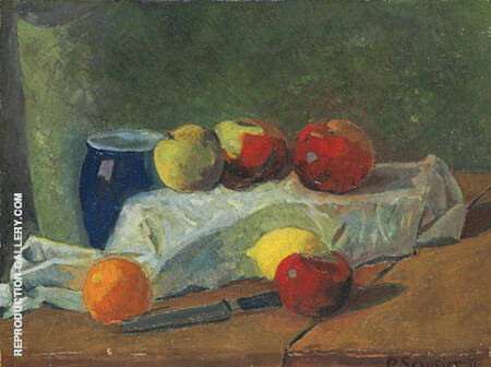 Nature Morte aux Pommes et Citrons c1911 By Paul Serusier - Oil Paintings & Art Reproductions - Reproduction Gallery