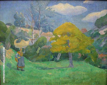 Bretonin auf dem Weg zum Waschplatz c1890 By Paul Serusier
