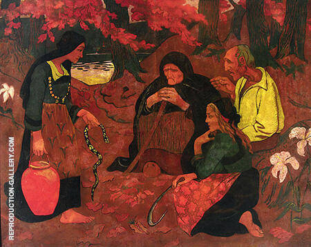 The Snake Eaters 1894 By Paul Serusier - Oil Paintings & Art Reproductions - Reproduction Gallery