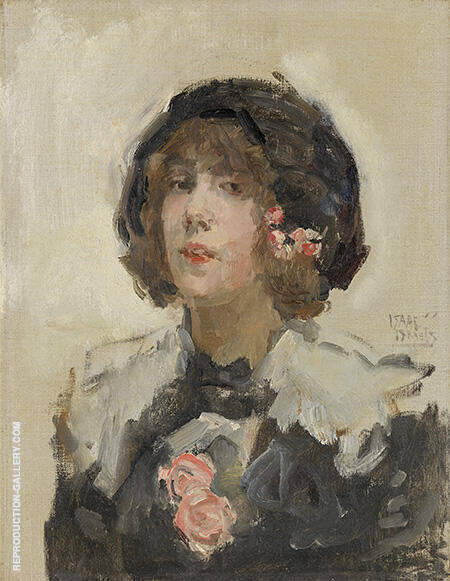 Portrait of a Woman By Isaac Israels - Oil Paintings & Art Reproductions - Reproduction Gallery