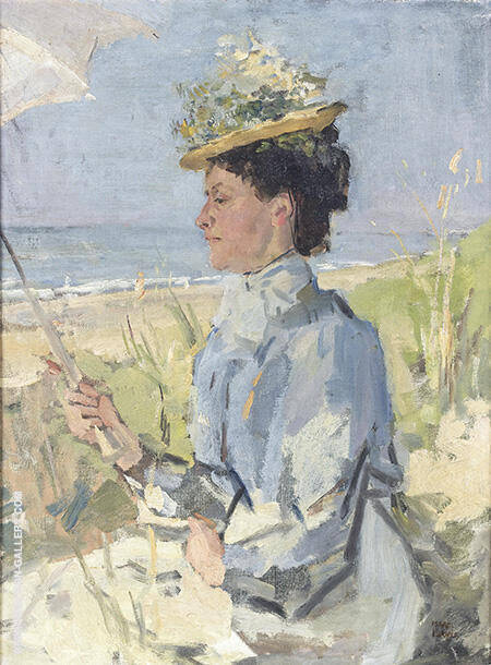 Portrait of Martha Salomon 1934 By Isaac Israels
