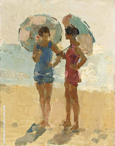 Ladies on the Beach By Isaac Israels