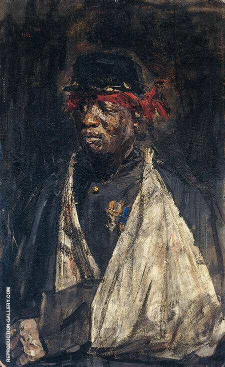 Portret van de gewonde KNIL-Militair Kees Pop 1882 By Isaac Israels - Oil Paintings & Art Reproductions - Reproduction Gallery