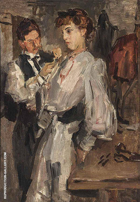 At The Fitting Room Paquin By Isaac Israels