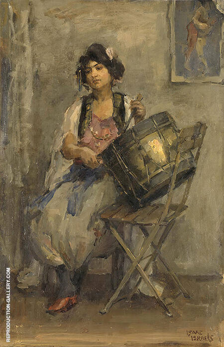 The Drummer c1890-1910 By Isaac Israels - Oil Paintings & Art Reproductions - Reproduction Gallery