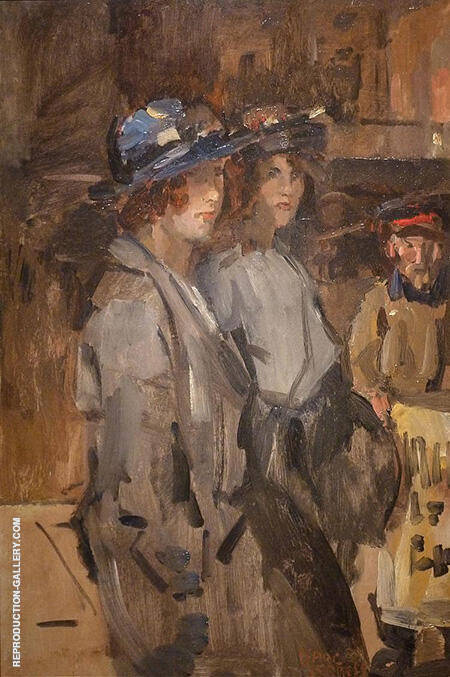 Two Cockney Girls By Isaac Israels - Oil Paintings & Art Reproductions - Reproduction Gallery